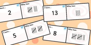 Tallies Loop Cards - tally, data, data analysis, card, visual aid