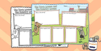 The Town Mouse and the Country Mouse Book Review Writing Frame