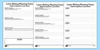 Transition Letter Writing Differentiated Planning Frame Romanian Translation - romanian, transition, letter, write