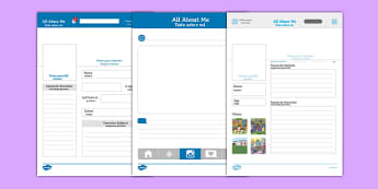 All About Me Social Media Profile Writing Template Spanish Translation - spanish, Instagram, Facebook, All About Me, Social Media, Selfie, Twitter, tweet
