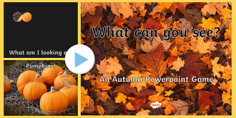 What Can You See? Autumn PowerPoint Game - powerpoint, powerpoint game, autumn, what can you see, interactive game, class activity, class, guessing game, hibernation