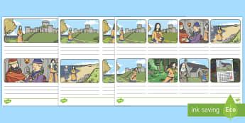 Saint Dwynwen Story Writing Template - Saint Dwynwen, santes Dwynwen, Wales, st Dwynwen, Writing Template, Welsh Celebration., Welsh