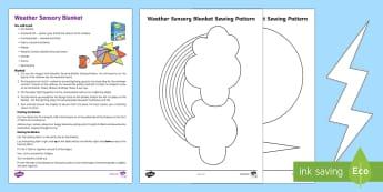Weather Sensory Blanket for Babies  - Sensory, blanket, baby, babies, tummy time, DIY, sewing, pattern, sun, cloud, rain, lightning,