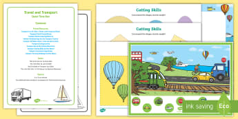 Transport Quiet Time Box - Transport and Travel, car, trains, preschol maths, quiet, table top activities,
