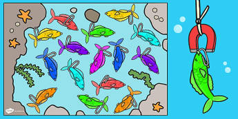 Fishing Activity Cut-Outs (Plain) - Under the sea - under the sea, fishing activity, fishing game, fishing activity cut outs, fishing cut outs, fishing cut out templates