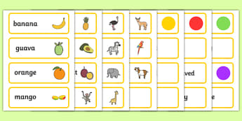 Word Cards to Support Teaching on Handa's Surprise - card, literacy, words, visual, aid