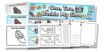 One, Two, Buckle My Shoe Resource Pack - one two buckle my shoe, resource pack, pack of resources, themed resource pack, one two buckle my shoe pack, rhymes