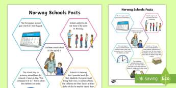 Norway Schools Fact File - CfE Social Studies resources, Norway, schools, comparisons, facts, Norwegian schools, schools in oth