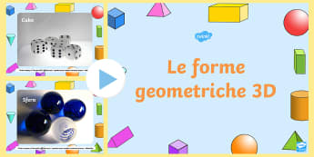 Foto forme geometriche 3D Presentazione Powerpoint - 3D, foto, presentazione, power, point, powerpoint, geometria, geometriche, matematica, italiano, ita