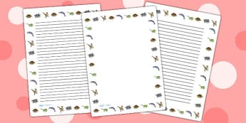 Realistic Dinosaurs Page Borders - dinosaur, page border, borders