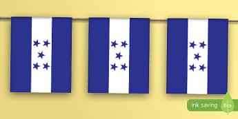 Honduras Flag Bunting - honduras, flag, bunting, display bunting, display