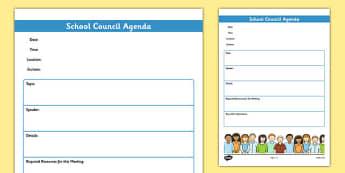 School Council Meeting Agenda Template - school council, meeting, agenda, template