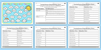 Using Subordinate Clause Lesson Teaching Pack - subordinate, pack