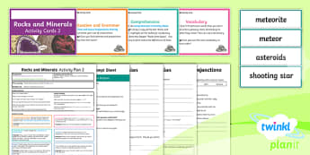 Y3 Rocks and Minerals: Activity Plan 2 PlanIt Guided Reading Pack to Support Teaching on Rocks and Minerals - Rocks and Minerals, non-fiction, carousel, rocks and soils, science, guided reading, Caroline Bingha