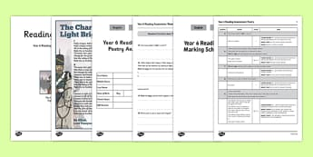 Year 6 Reading Assessment Poetry Term 2 - year 6, reading, assessment, term 2, poetry