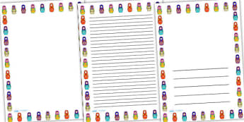 Russian Doll Page Borders - russian doll, doll, page border