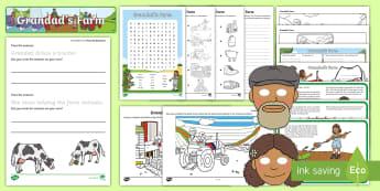 Exploring My World - Grandad's Farm Activity Pack - aistear, Jaz, play, helping, farming, story, Irish