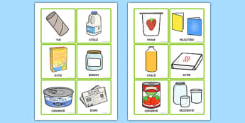 Ecologie și reciclare, Sorteaza cartonasele - Ziua Pamantului - romanian, recycle, sort, game, games, activity