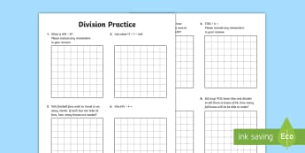Division Practice Working in Context Activity Sheets - Maths, division, problem solving, remainders, 3 digit division by 1 digit, divide, word problems, so