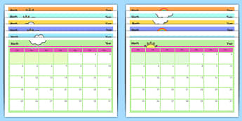 Editable Calendar - editable, calendar, edit, year, months, days, weeks