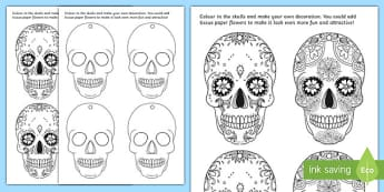 Day of the Dead Skull Party Decoration Activity