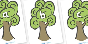 Phase 2 Phonemes on Trees - Phonemes, phoneme, Phase 2, Phase two, Foundation, Literacy, Letters and Sounds, DfES, display