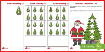 Christmas Tree Combinations Investigation Activity