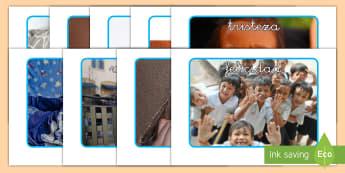 Póster DIN A4 con fotos - Las emociones - emociones, sentimientos, todo sobre mí, yo mismo, autoestima, auto estima, póster, pósters, DIN A