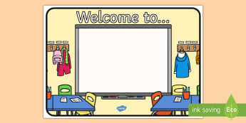 Welcome To Display Sign - welcome, sign, welcome to, greeting, display, returning students