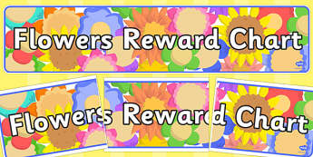 Flowers Reward Chart Display Banner - flowers, reward chart, display