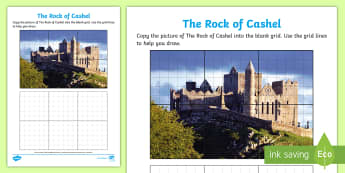 The Rock of Cashel Art Activity Sheet - ROI - The World Around UsWAU, worksheet, Irish