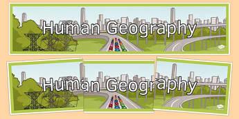 Human Geography Display Banner - human geography, display banner, display, banner