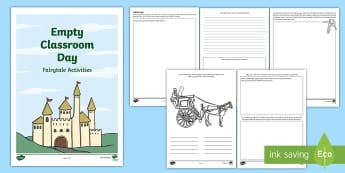 Empty Classroom Day Fairytale Activity Booklet - CfE Empty Classroom Day (May 18th), empty classroom day, outdoor classroom day, outdoor learning, fa