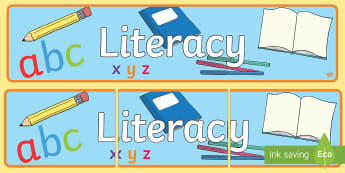 EYFS Learning Areas Literacy Display Banner - literacy banner, literacy display banner, literacy display header, literacy, english, literacy display, eyfs