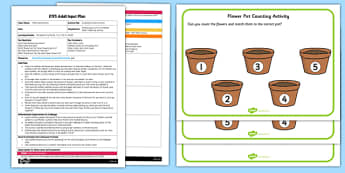 Counting Flowers EYFS Adult Input Plan and Resource Pack - count
