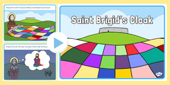Saint Brigid's Cloak PowerPoint Story - saint brigid, irish history, ireland, saint, patron, powerpoint, story