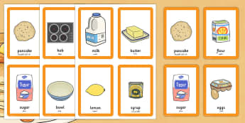 Pancake Day Pairs Matching Game Arabic Translation - arabic, activity, activities, match, pancake day
