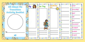 All About Me Transition Activity Booklet - Irish