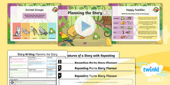 PlanIt Y1 Animals: to Support Teaching on Dear Zoo Lesson Pack Story Writing (1) - Dear Zoo, animals, stories, repeating parts, plan, write, edit