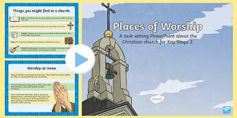 KS2 Places of Worship Christian Churches - religion, church
