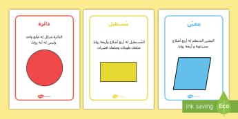 معلومات حول الأشكال ثنائية الأبعاد - أشكال، أشكال ثنائية الأبعاد، ملصقات، معلومات ، خصائص،