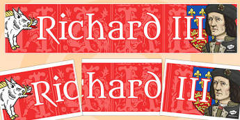 Richard III Display Banner Fancy Font - richard III, display