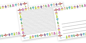 Monster Full Page Borders (Landscape) - page border, border, frame, writing frame, landscape, monster landscape, writing template, monster page borders, monster full page borders, monster, monsters, writing aid, writing, A4 page, page edge, writing a