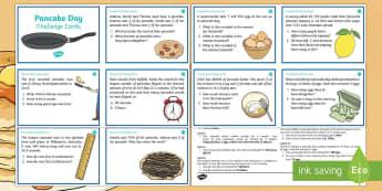 Year 5 Pancake Day Maths Challenge Cards - Australian Requests, pancake day maths, pancake day tuesday, mathematics, australian curriculum, shr