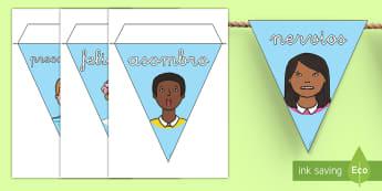 Banderitas de exposición: Las emociones - auto-estima, sentimientos, emociones, todo sobre mi, banderitas, exposición, exponer, decorar, deco