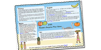 Handa's Surprise Lesson Plan and Enhancement Ideas EYFS - handas surprise, handas surprise lesson plan, handas surprise lesson ideas, handas surprise lesson plan idea, MTP