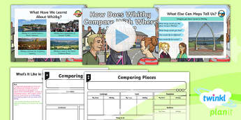PlanIt Geography Y4 - What's It Like in Whitby - L6 How Does Whitby Compare With Where We Live? Lesson Pack - geography, UK, compare, Whitby, contrasting, location, physical, human, coast, seaside