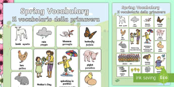 Spring Vocabulary Poster - Spring Vocabulary Poster - spring, vocabulary, poster, display, sping, sprng