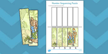 The Tale of Peter Rabbit Number Sequencing Puzzle - peter rabbit