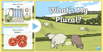 What's My Plural? PowerPoint - NI - Literacy Warm Ups and Revision, revision, plural, plurals.